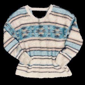Target Xhilaration Aztec print fuzzy sweater